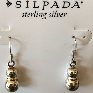 Silpada 925 Sterling Silver and Gold Tone Earrings